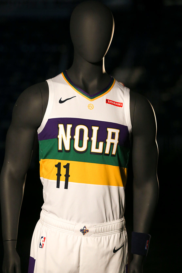 30a755fc0f4 New Orleans Pelicans unveil Nike City Edition uniform inspired by the  vibrant colors of Mardi Gras