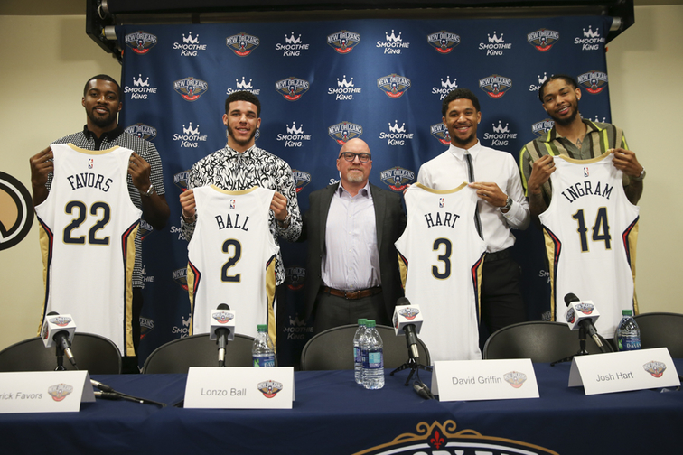 Ball, Ingram, Hart and Favors Introductory Press Conference