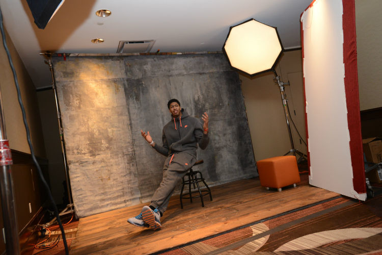 Pelicans forward Anthony Davis hits the media circuit on Day 1 of 2015 NBA All-Star Weekend