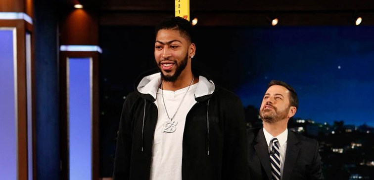 Jimmy Kimmel measures Pelicans All-Star Anthony Davis as 6-11