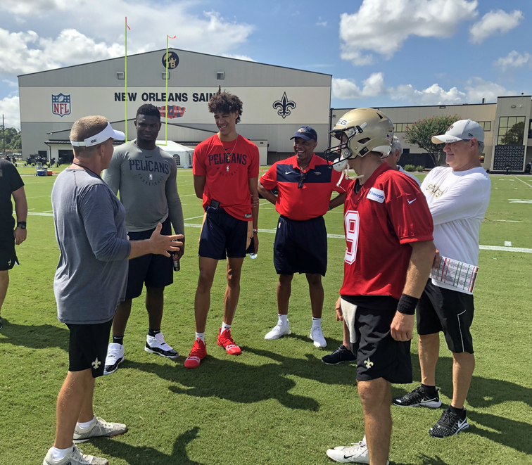 Williamson, Hayes, Gentry, Griffin attend Saints training camp practice