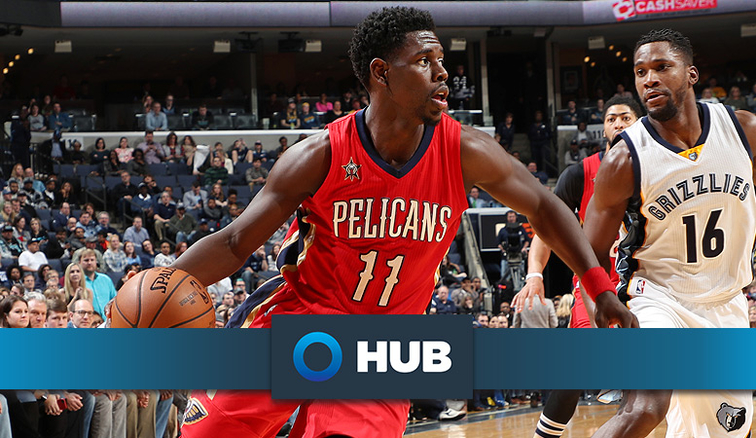 Jrue Holiday looks for room against Memphis last season
