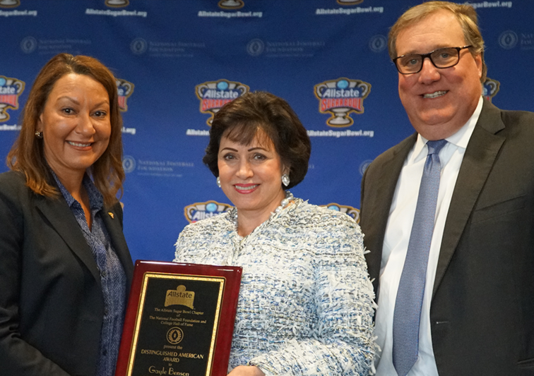 Mrs. Benson Presented with the Distinguished American Award