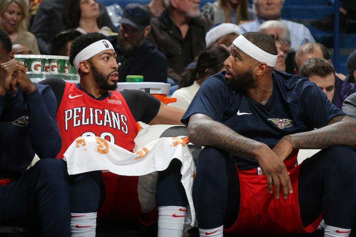 Layne Murdoch Jr./NBAE via Getty Images      Anthony Davis remains second De Marcus Cousins now fourth in All Star voting