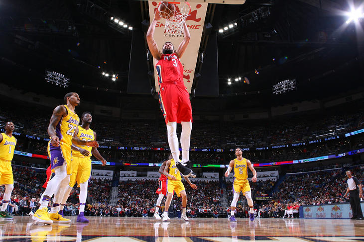 Davis' monster game leads Pelicans past Lakers, 139-117