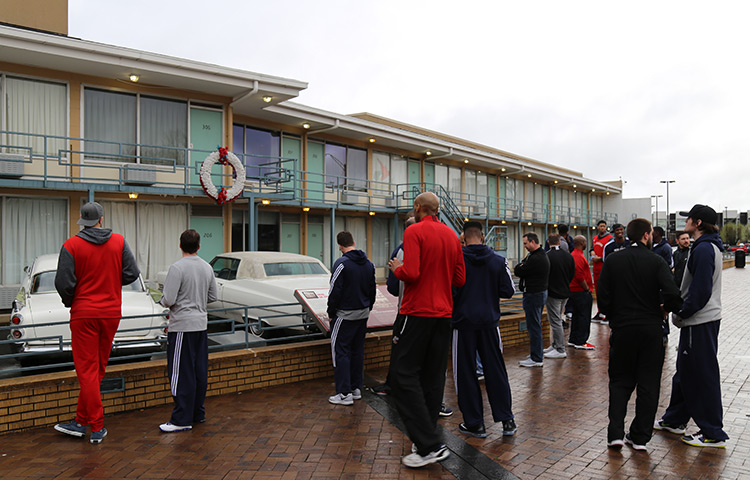 Pelicans Visit National Civil Rights Museum at the Lorraine Motel