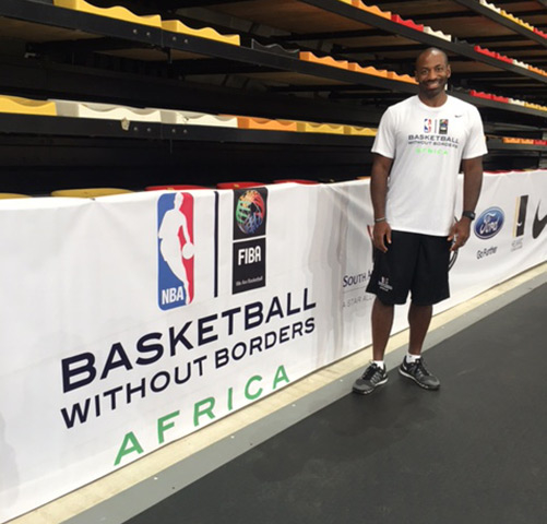 Dell Demps Visits Angola for Basketball without Borders