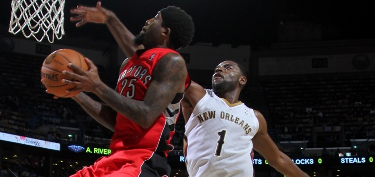 During a game in New Orleans last season, John Salmons shoots a layup against Pelicans wing Tyreke Evans