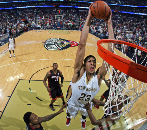 Pelicans vs Heat Action Shots