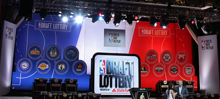 The stage at last month's NBA draft lottery