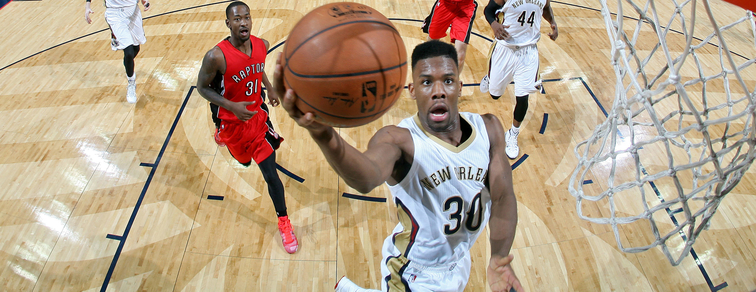 Norris Cole shoots a right-handed layup against Toronto