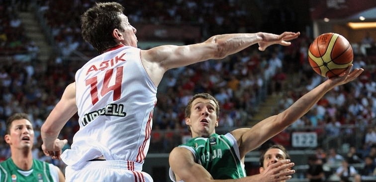 Omer Asik and Turkey defeated the Dominican Republic on Thursday