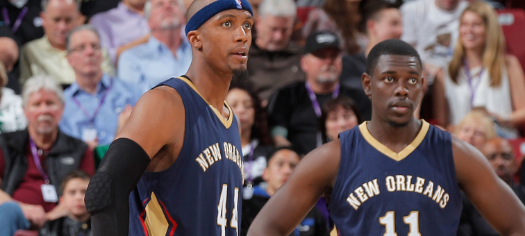 Dante Cunningham (left) and Jrue Holiday are Pelicans free agents this summer