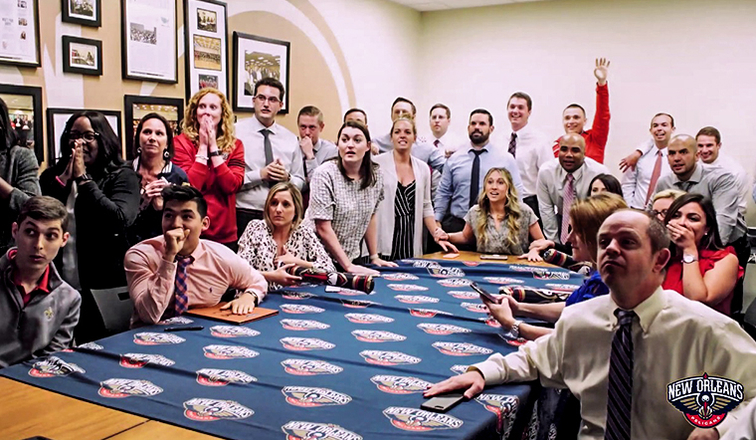 Pelicans Staff Excited for Pelicans Lottery Win