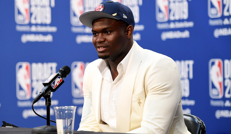 Zion Williamson at a draft press conference