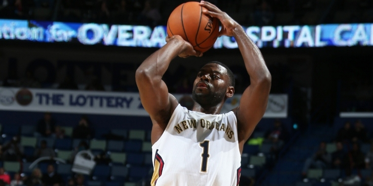 Tyreke Evans shoots a three-pointer in a recent home game vs. Minnesota