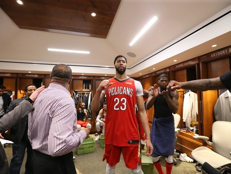 Locker room photos: Pelicans complete the sweep of Trail Blazers