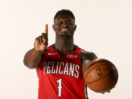 Zion Williamson first look in Pelicans uniform