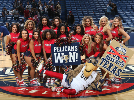Pelicans Dance Team and Entertainment from Spurs game