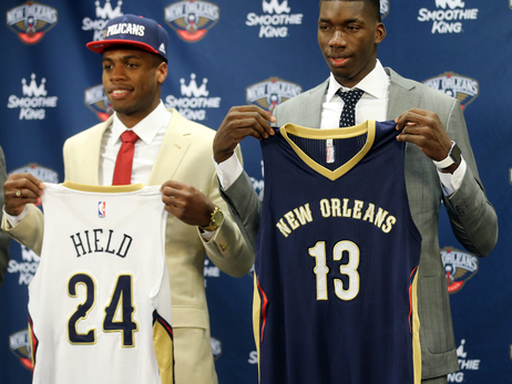Buddy Hield and Cheick Diallo introductory press conference 6-24-16