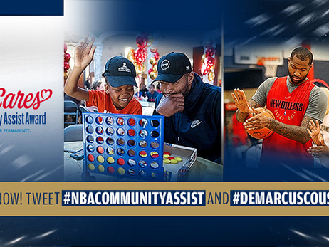 Pelicans DeMarcus Cousins nominated for Seasonlong NBA Community Assist Award