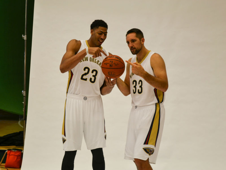 Behind-the-scenes of 2014 Pelicans Media Day