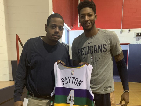 Pelicans surprise Elfrid Payton, teammates with practice at Payton's local high school