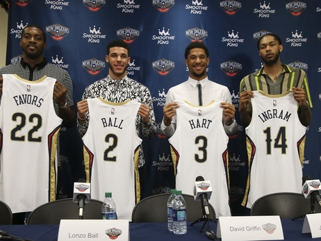 Pelicans' goal is to maximize strengths of Derrick Favors, trio of additions from Lakers