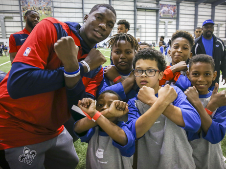 Chevron and Pelicans host holiday event for Boys and Girls Club of Louisiana