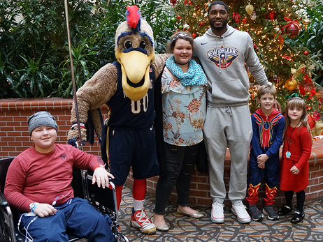 E'Twaun Moore Hospital Visit at Ochsner Medical Center