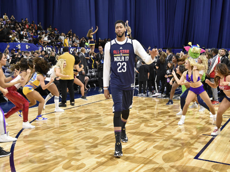 Anthony Davis, West at NBA All-Star Practice 2017