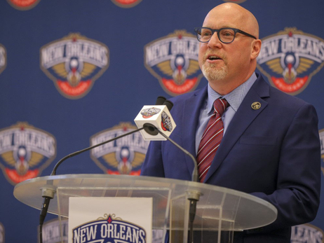 David Griffin is introduced by the New Orleans Pelicans
