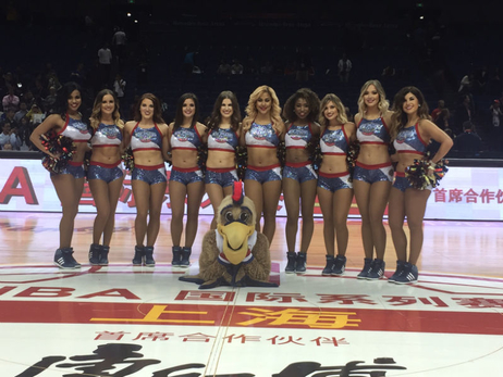 Pelicans Dance Team in China