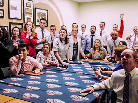 Pelicans employees discuss their roles in hugely-popular lottery-night video