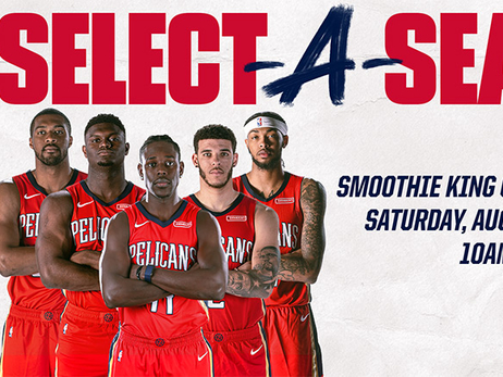 New Orleans Pelicans to host Select-a-Seat event on Saturday, August 17