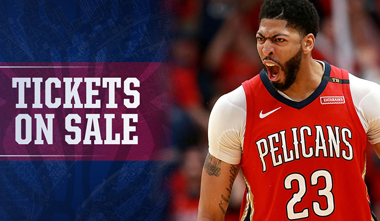 2018 Pelicans tickets on sale