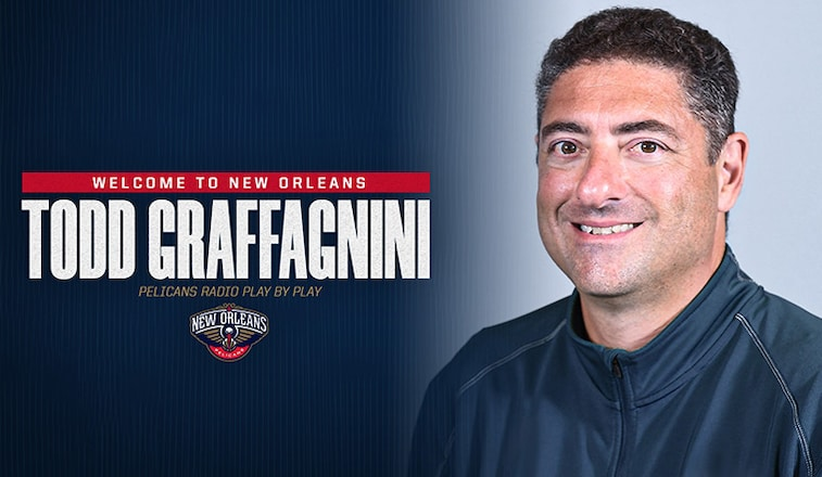 Pelicans Name Todd Graffagnini Radio Play By Play Announcer New Orleans Pelicans