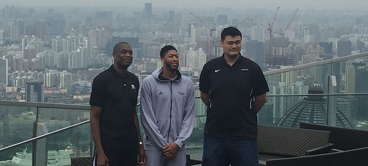 Anthony Davis Meets Yao Ming For First Time In China During