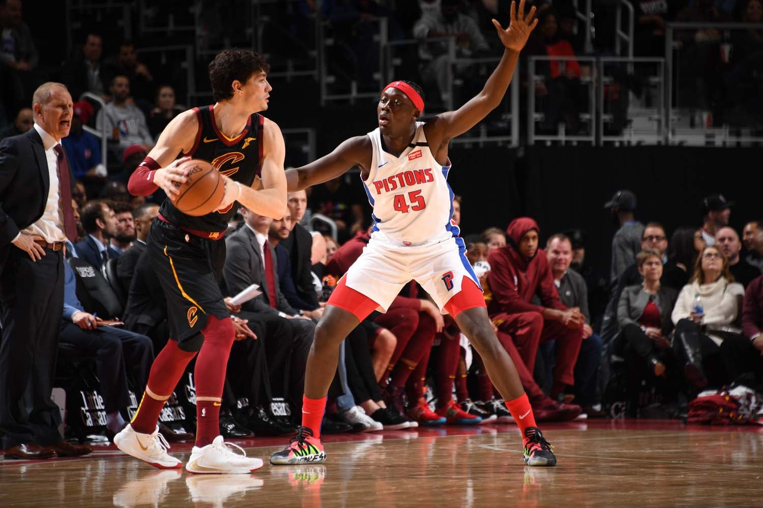 The Pistons fell to the Cavs at home Thursday, 115-112.(NBAE/Getty Images)