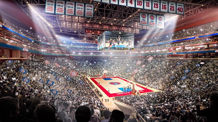 Detroit Pistons Submit Bids For NBA All-Star At Little Caesars Arena In Detroit