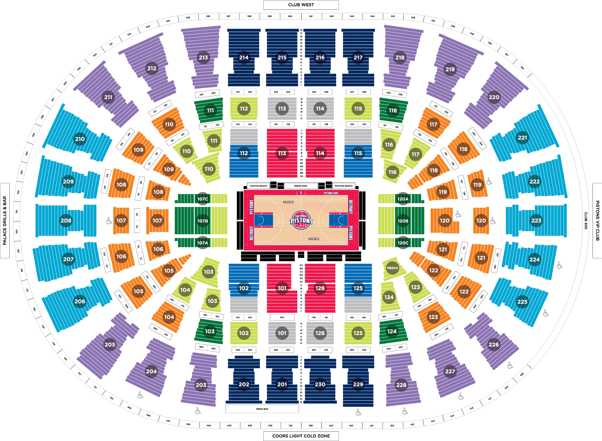 Verizon Center Floor Plan 10 Game Plans Detroit Pistons