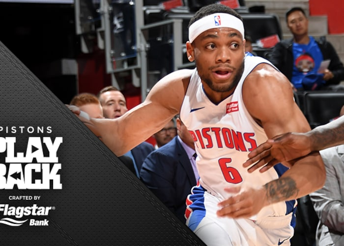 Brown leads Pistons from 19 down to beat Cavs, improve to 2-1