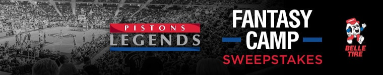 Belle Tire Pistons Legends Fantasy Camp Sweepstakes