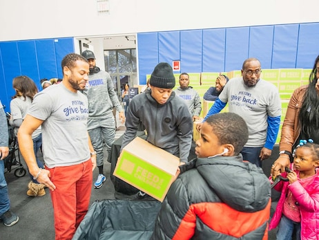 Pistons Give Back Event - Pistons One