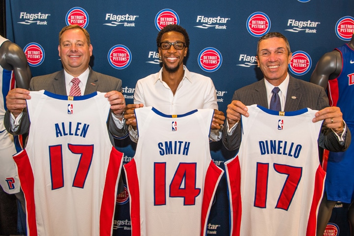 Get your first look at the new Pistons jerseys.(Chris SchweglerPistons  photo