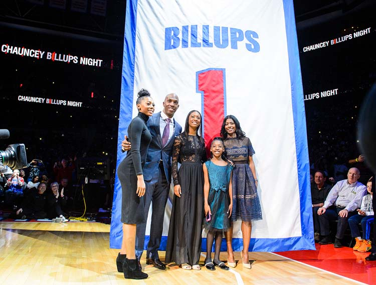 super popular 6cf7e f9481 Photos: Chauncey Billups' Jersey Retirement | Detroit Pistons