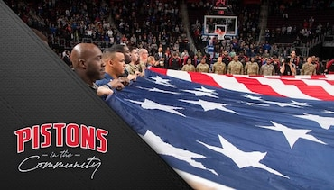 Pistons in the Community: Hoops for Troops Night