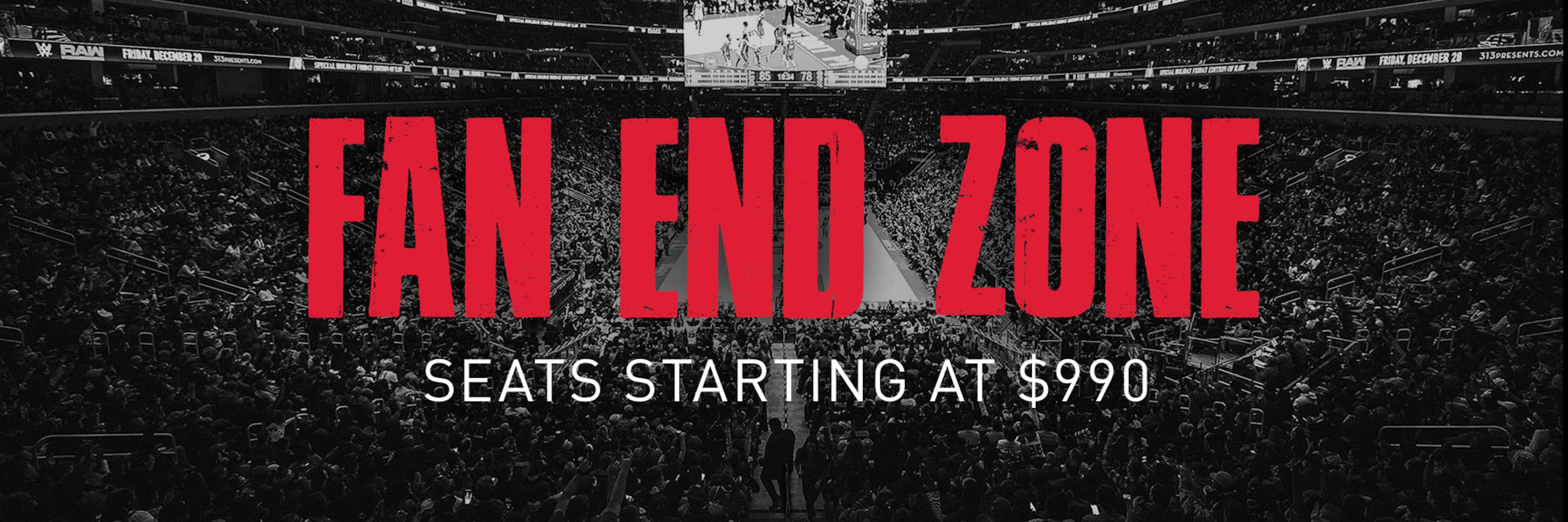 Fan End Zone - Seats starting at $990