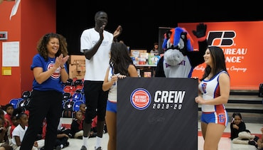 Pistons In the Community: Backpack Giveaway