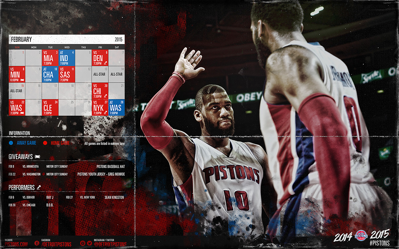 Pistons February Wallpaper
